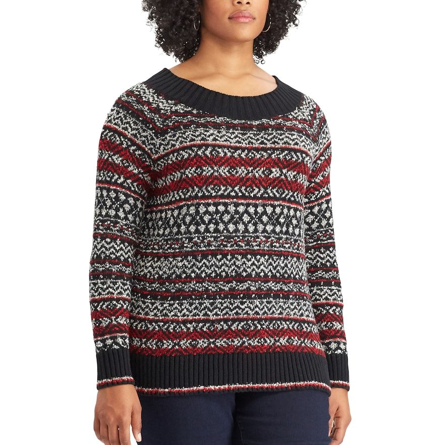 a01ddae1da8 Plus Size Chaps Cable-Knit Crewneck Sweater
