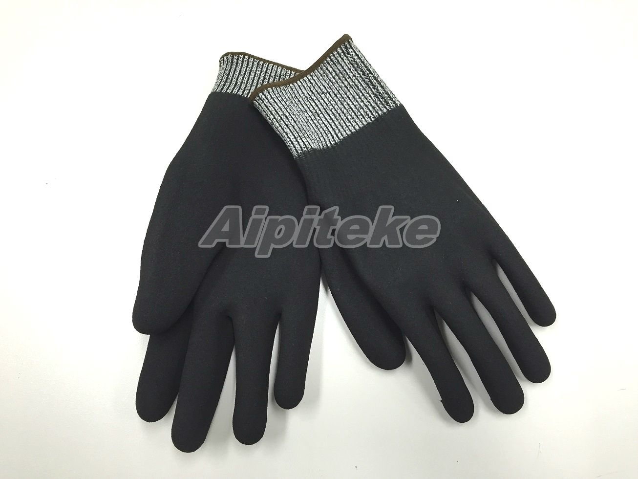 cut and chemical resistant gloves-Sandy Foam Nitrile Fully Coated Gloves