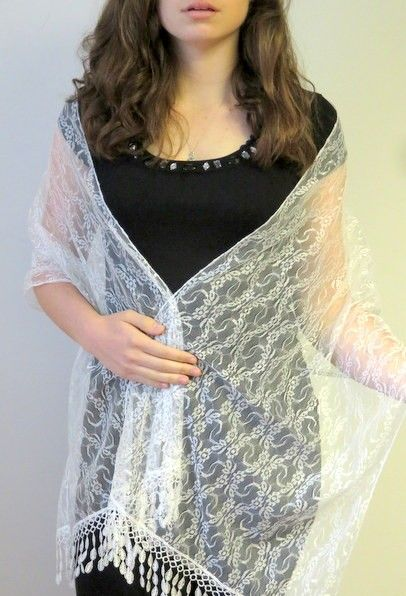 white lace shawl to treasure prod 6189 great for an evening wrap or a wedding wrap