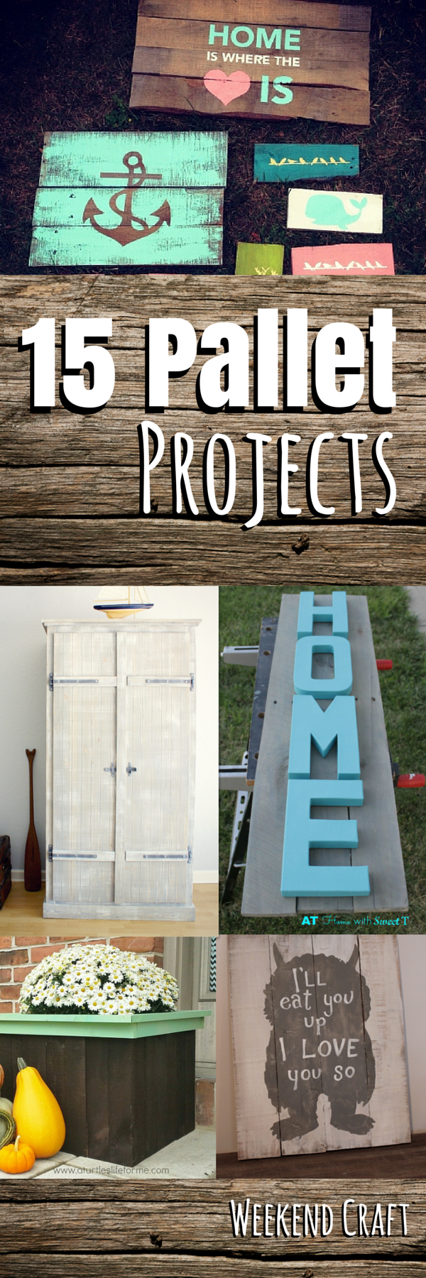Wooden pallet craft projects - 15 Diy Pallet Project Tutorial From Pallet Signs Art Decor Crafts Shelving