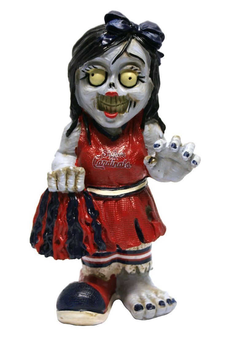 St Louis Cardinals Zombie Cheerleader Figurine With Images Zombie Cheerleader