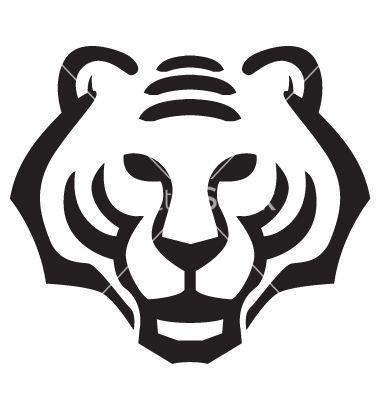 Tiger face vector   Tiger face, Tiger silhouette, Tribal tiger