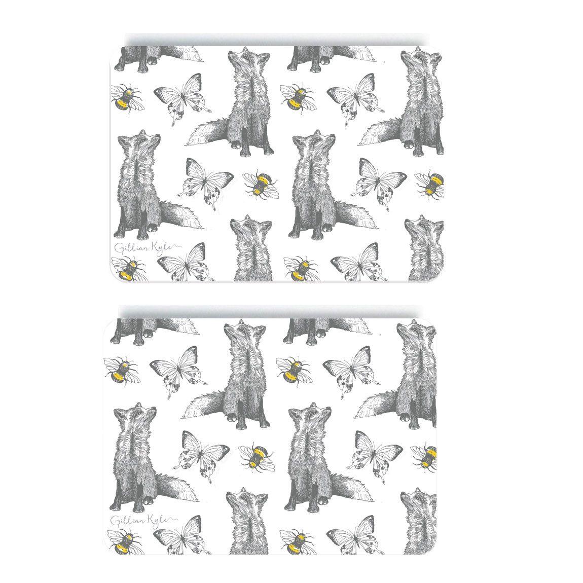 Foxy Placemats Set Of 2 Scottish Gifts Artist Art