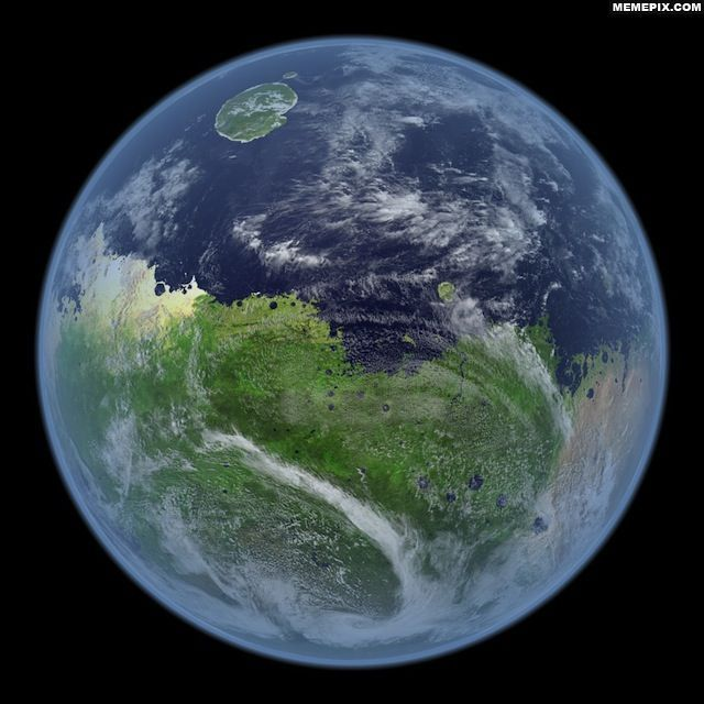 This is how Mars would look if it still had water.
