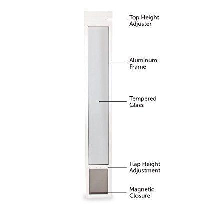 Petsafe Freedom Aluminum Patio Panel Sliding Gl Pet Door 76 13 16 To 81 Inch White Medium Doors Supplies