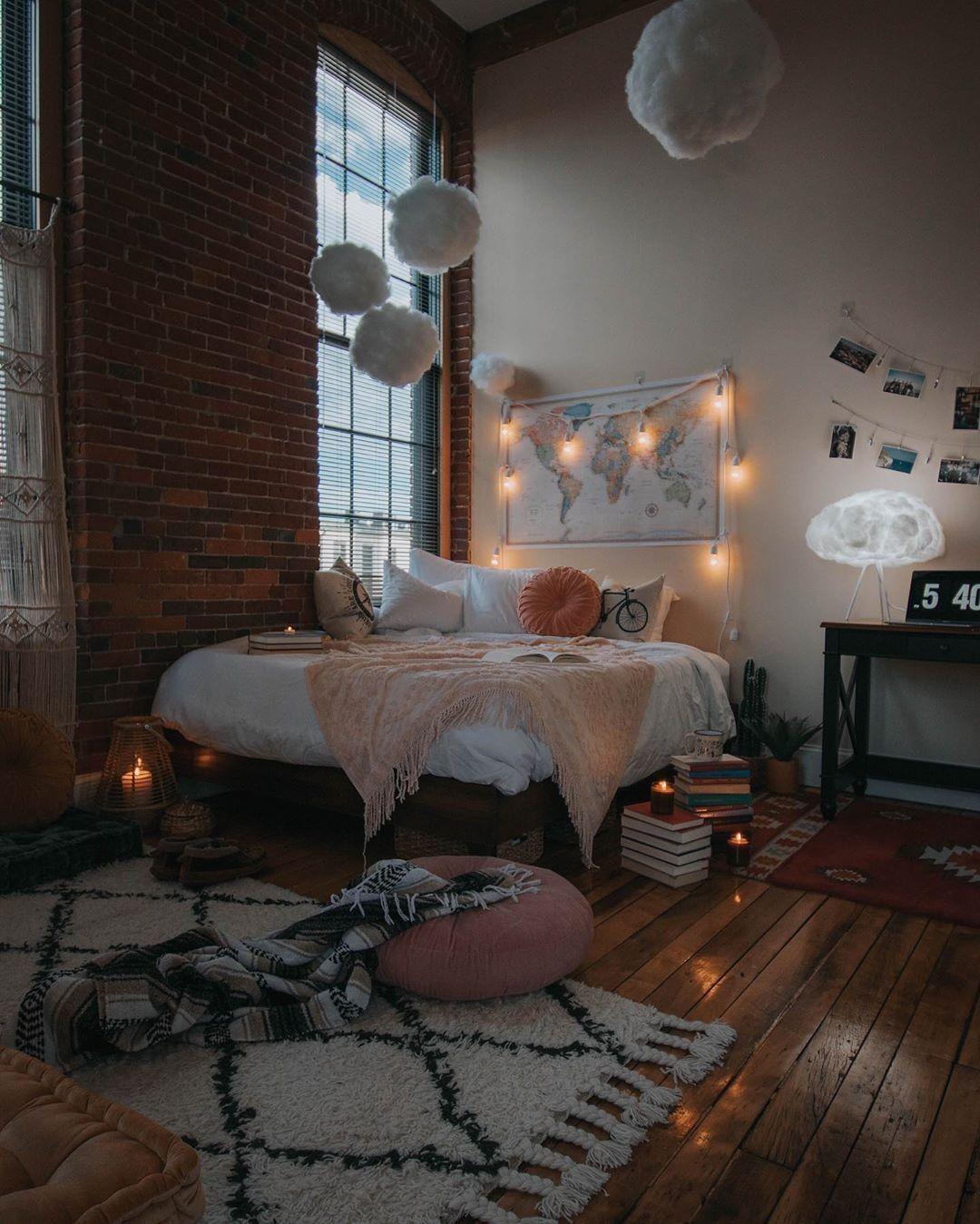 Bohemian Style Ideas For Beautiful Bedroom Decor Beautiful Bedroom Decor Bedroom Decor Aesthetic Room Decor