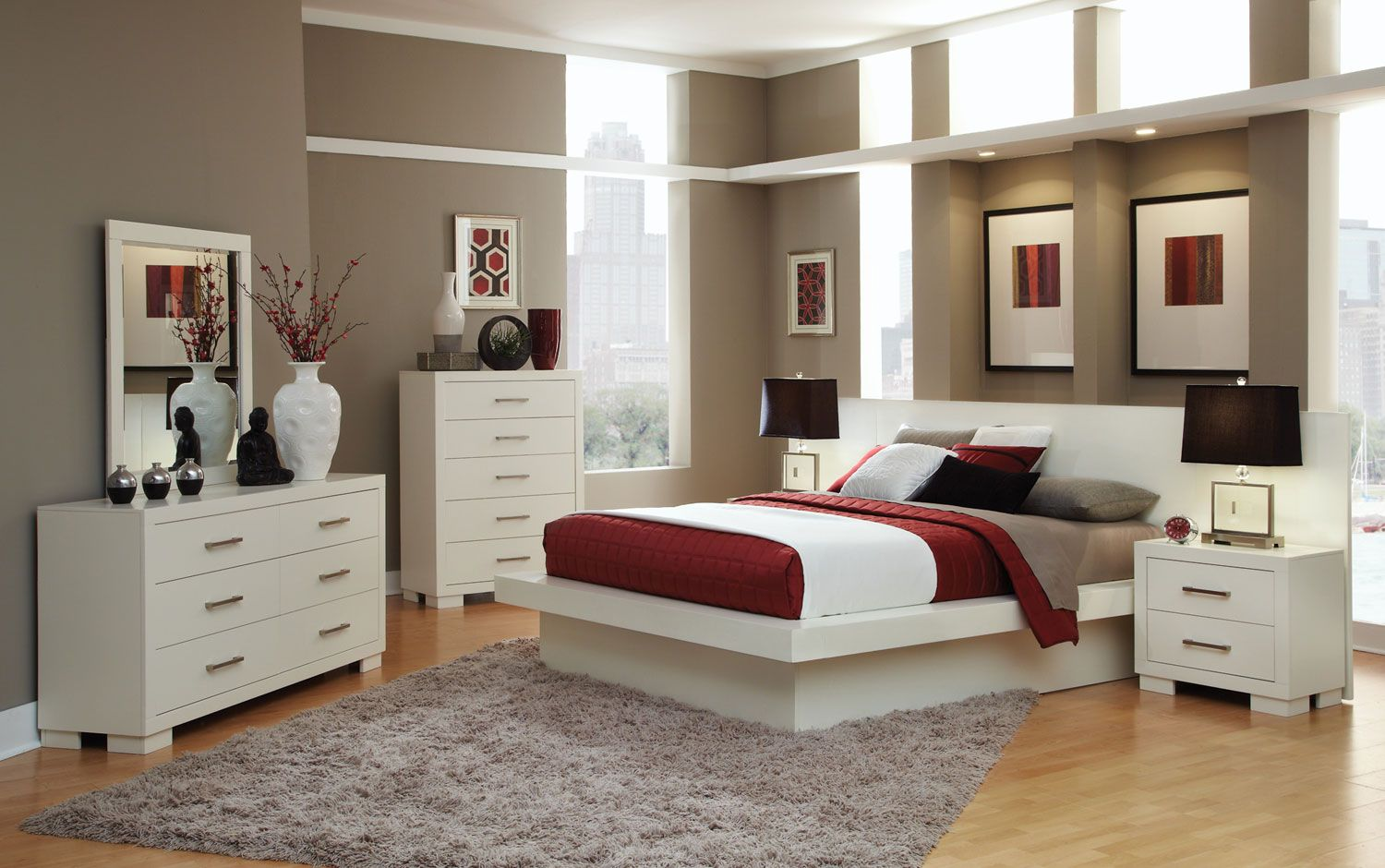 Best Modern White Bedroom Set Love The Style But Would Get A 400 x 300