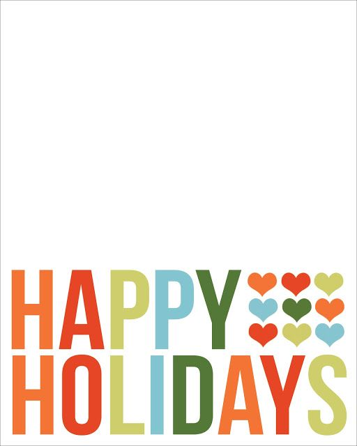 happy holidays filler card printable for project life