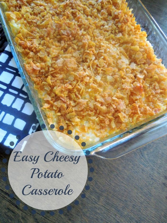 Easy Cheesy Hash Brown Casserole Miss Information Recipe Cheesy Potatoes Easy Casserole Side Dishes Brunch Recipes