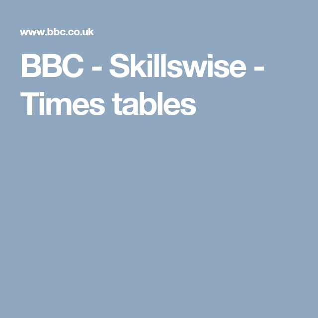 Bbc Skillswise Times Tables | Modern Coffee Tables and Accent Tables