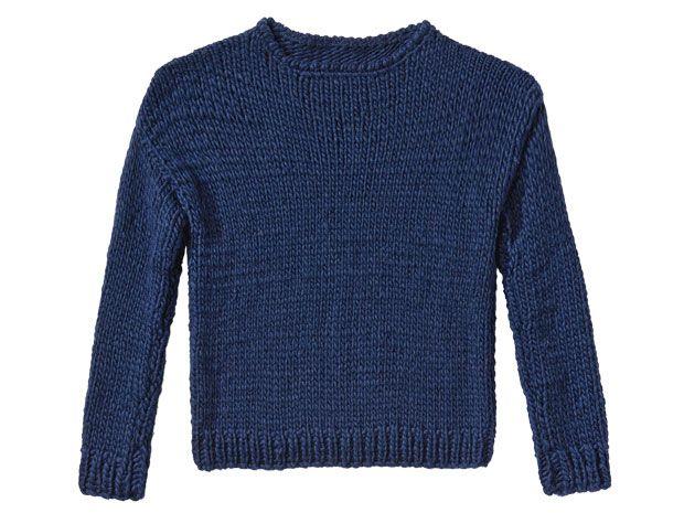 Strickmuster: Marine-Pullover stricken - eine Anleitung ...