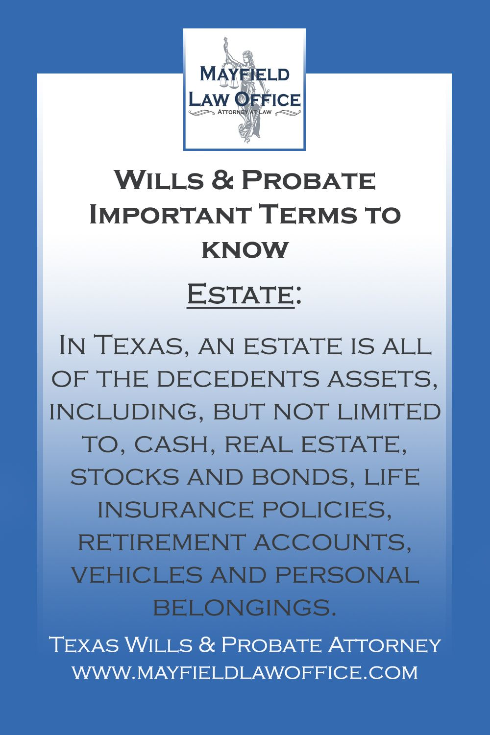 Texas Wills Probate Terms Probate Life Insurance Policy Texas