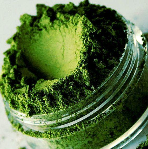 Apple  Bright Green Shimmer Mineral Eyeshadow  by SMASHCOSMETICS, $6.00