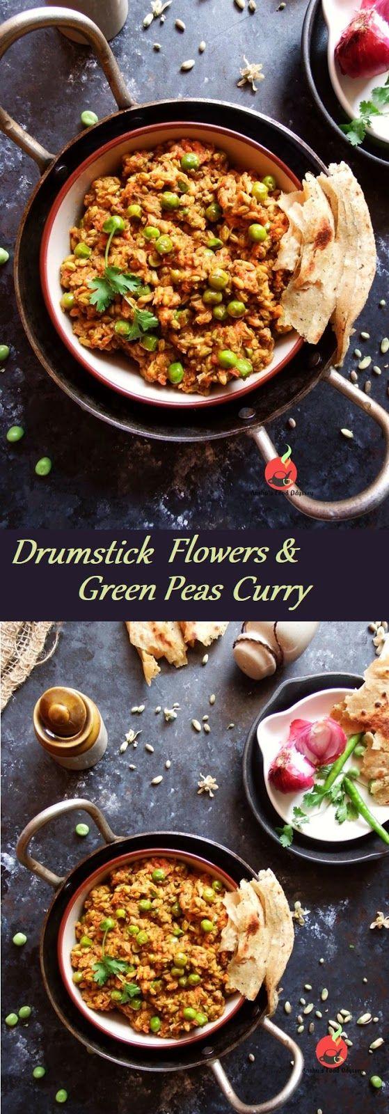 Swanjane Aur Matar Ki Sabzi Drumstick Flowers Green Peas Curry Recipes Food Indian Food Recipes