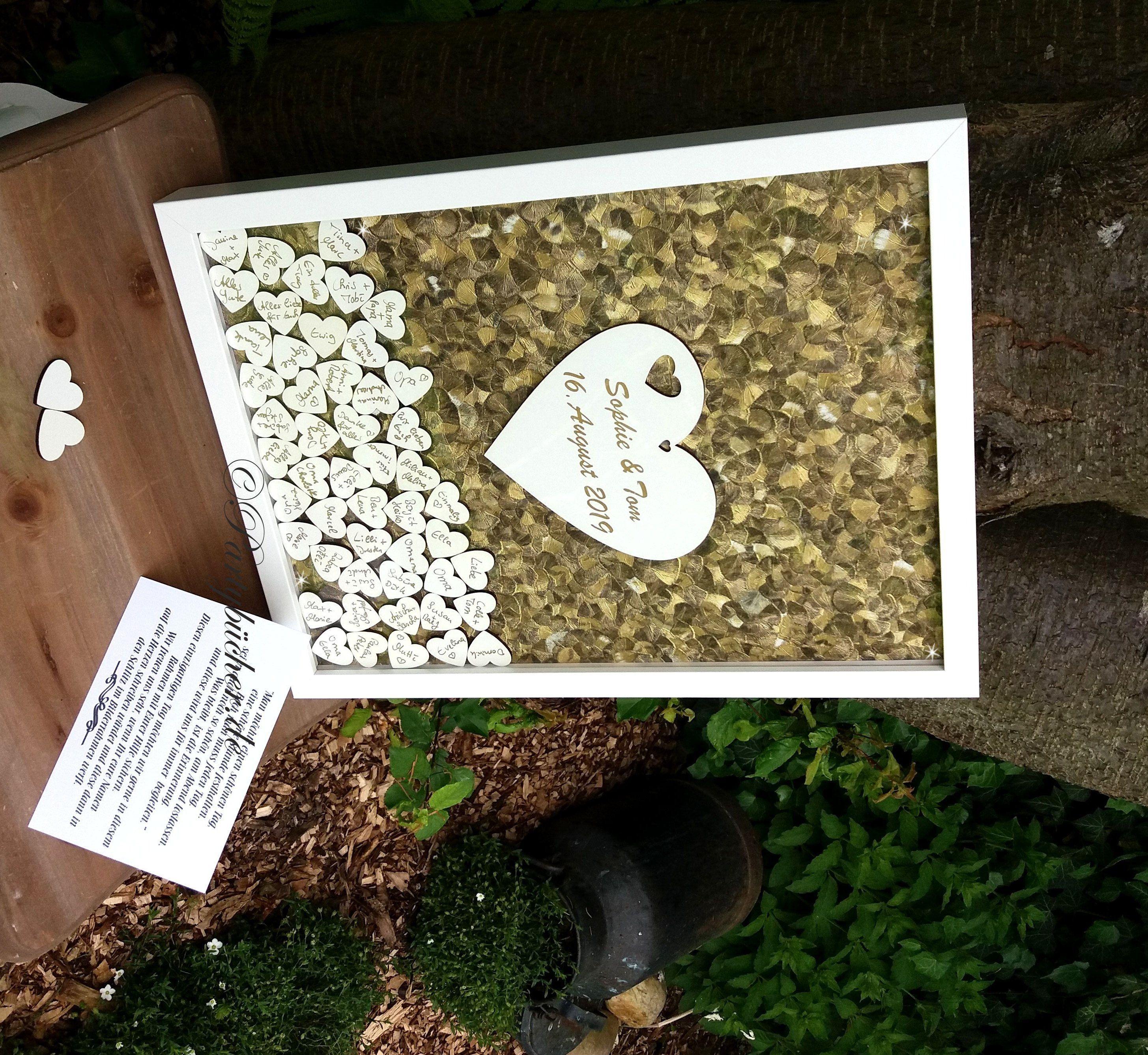 Gastebuch Hochzeit Holzherzen Holzherz Drop In Hochzeitsgastebuch Alternative Bilderrahmen Gold Wooden Hearts Wedding Guest Book Alternatives Wedding Guest Book