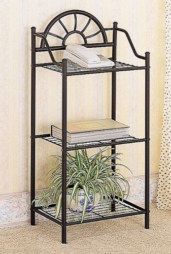 Coaster Garden Plant Phone Stand Corner Table Black Wrought Iron By Home Furnishings
