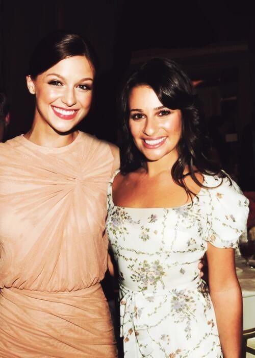 Melissa Benoist And Lea Michele Glee Chicas Personas