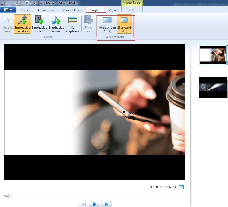 Tutorial How To Remove Black Bars Windows Movie Maker Windows Movie Maker Video Maker Black Bar