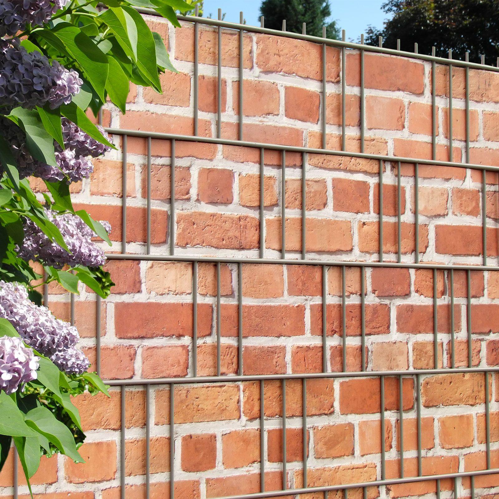 Der Gittermattenzaun als täuschend echte Backsteinmauer Der