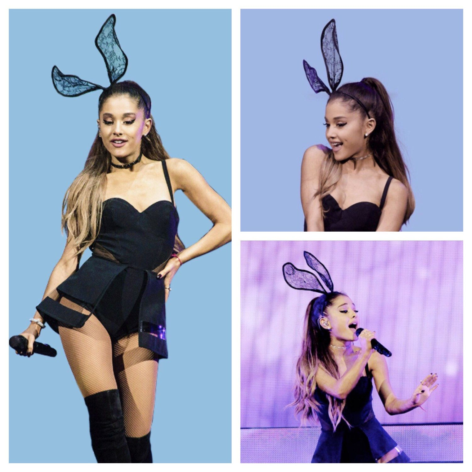 Ariana Grande Halloween Costume 2019.Cute As Ever Ariana Grande Wearing My Lace Bunny Ears Senior