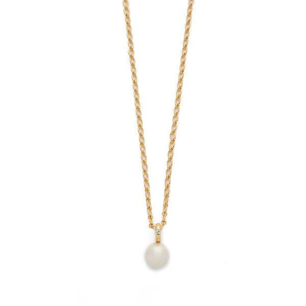 Kate Spade New York Pearly Delight Long Pendant Necklace ($96) ❤ liked on Polyvore featuring jewelry, necklaces, cream multi, long necklace, kate spade necklace, pendants & necklaces, adjustable necklace and gold plated necklace