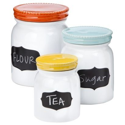 Canisters With Chalkboard Labels From Target