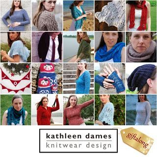 Indie Design Gift-A-Long 2014! 20 patterns by Kathleen Dames are on sale for 25% off 13-21 November 2014: An Aran for Anne, An Aran for Frederick, Aphros, Babe in the Mist, Captain Austen's Scarf, Castaway, Dennis, Hap-py, In the Shallows, Infinite, JOY Garland, Matryoshka Japonais, Mermaid's Cardigan, Mermaid's Mitts, Night Watch Cap, On the High Seas, Sailor's Valentine, Sotherton, Upon the Spanish Main, Wavelette Use coupon code giftalong2014 on Ravelry.com