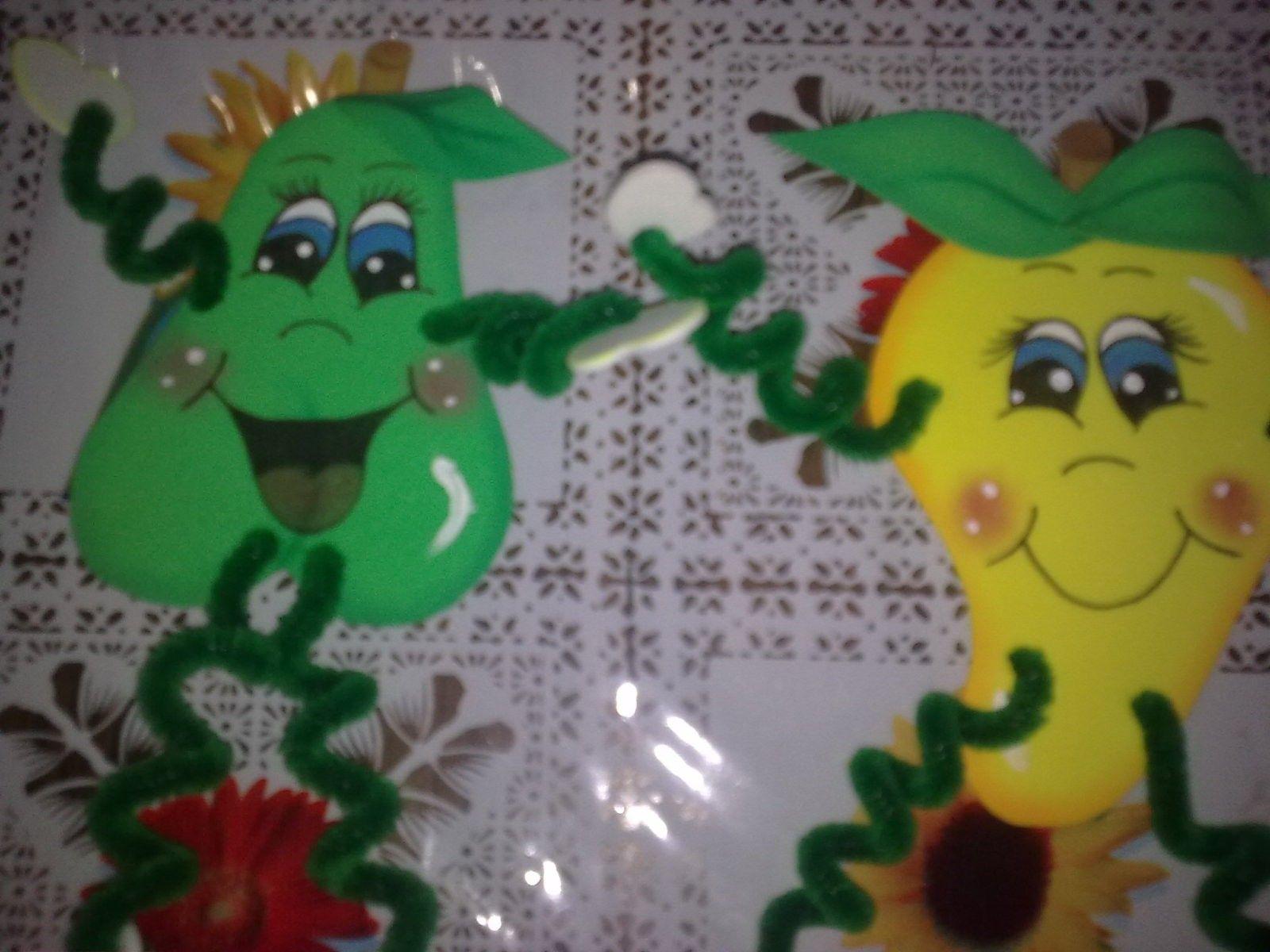 FRUTAS EN FOAMY PARA LA NEVERA (con imágenes) | Manualidades, Nevera, Imagenes  de muñecos