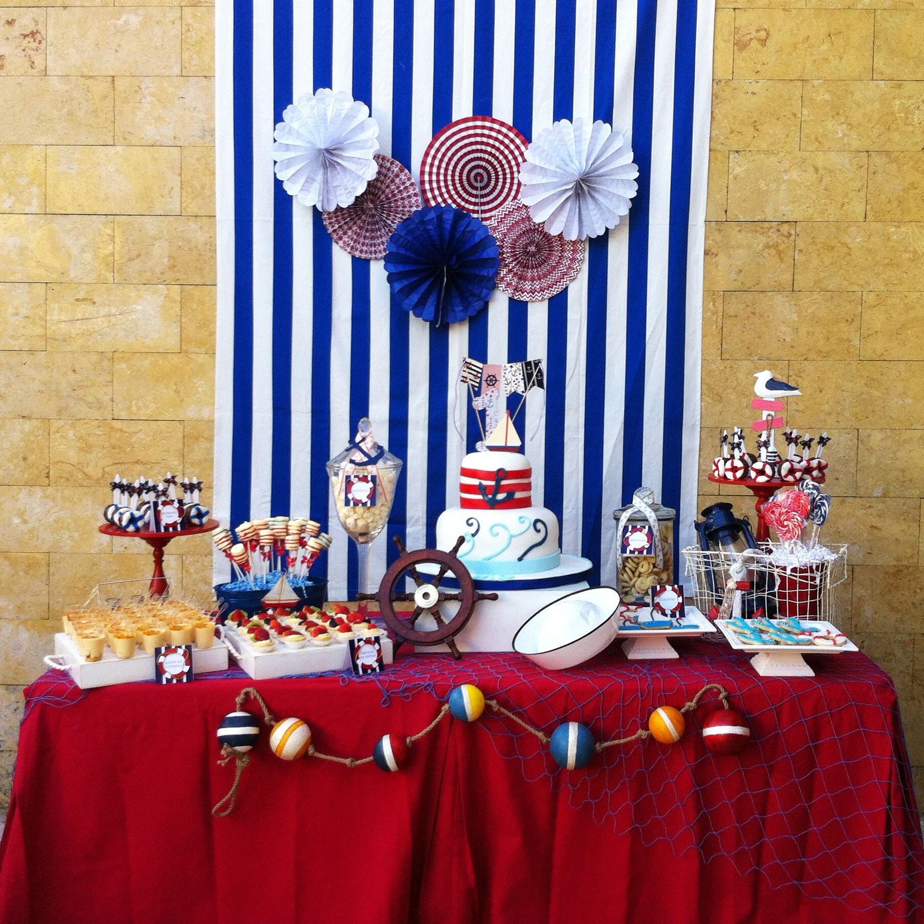 Nautical Desserts Table Sailor Birthday Nautical Baby