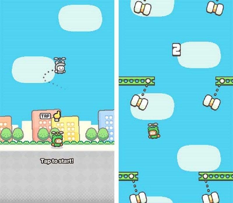 Swing Copters 2, el nuevo juego del creador de Flappy Bird - http://webadictos.com/2015/12/29/swing-copters-2/?utm_source=PN&utm_medium=Pinterest&utm_campaign=PN%2Bposts