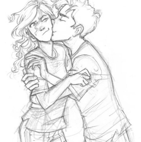 sketch two people sketch 3d drawings percy jackson sketches