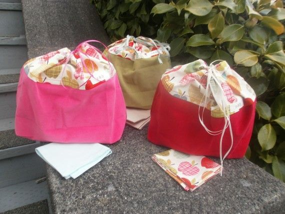 Everytime I go on a picnic I wish I had one of these lunch sacks! LOVE!