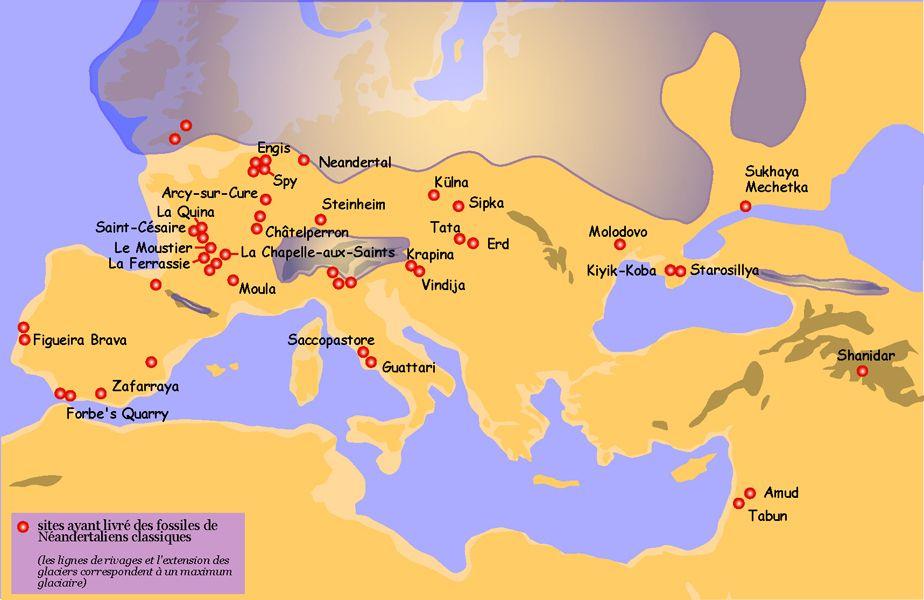 carte europe glaciation