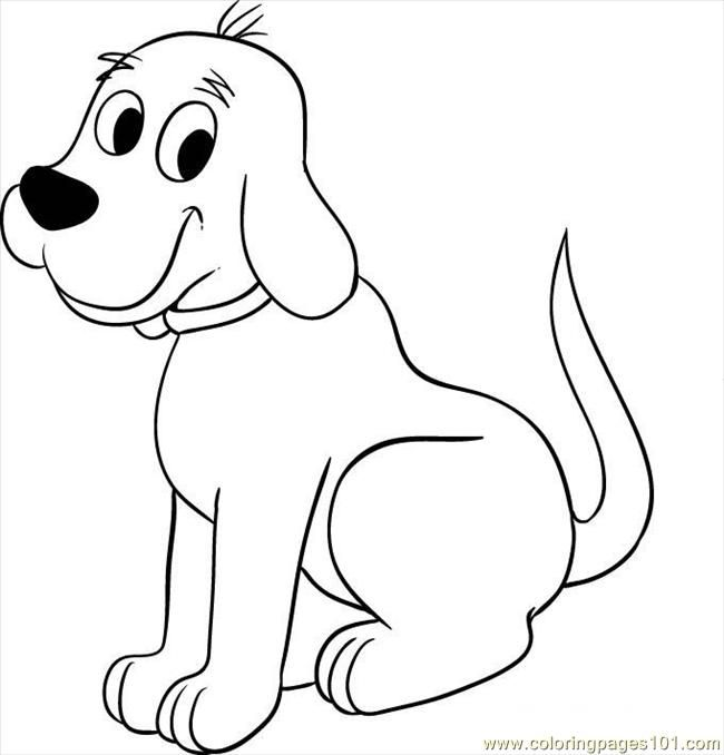Clip Art Pictures Coloring Page Dog