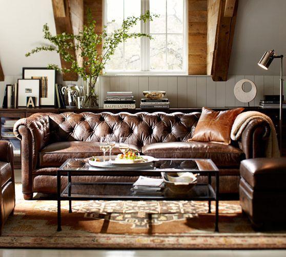 Brown Leder Chesterfield Sofa Sofa In 2019