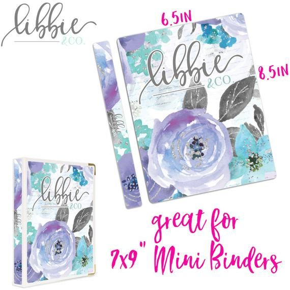 This Listing Is For A Floral Libbie And Co. Binder Cover