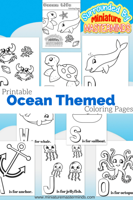 Free Printable Ocean Themed Coloring Pages | Vida marina, Acampar y ...