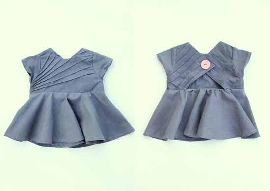 cute baby dress, how to do pin tucks