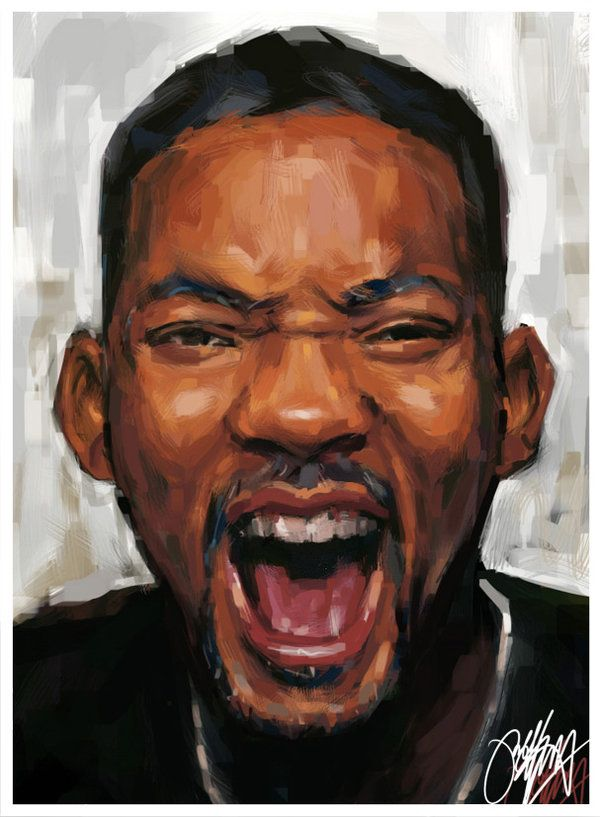 Will Smith Painting by kyle-lambert.deviantart.com on @deviantART   Portrait  painting, Portrait, Celebrity portraits