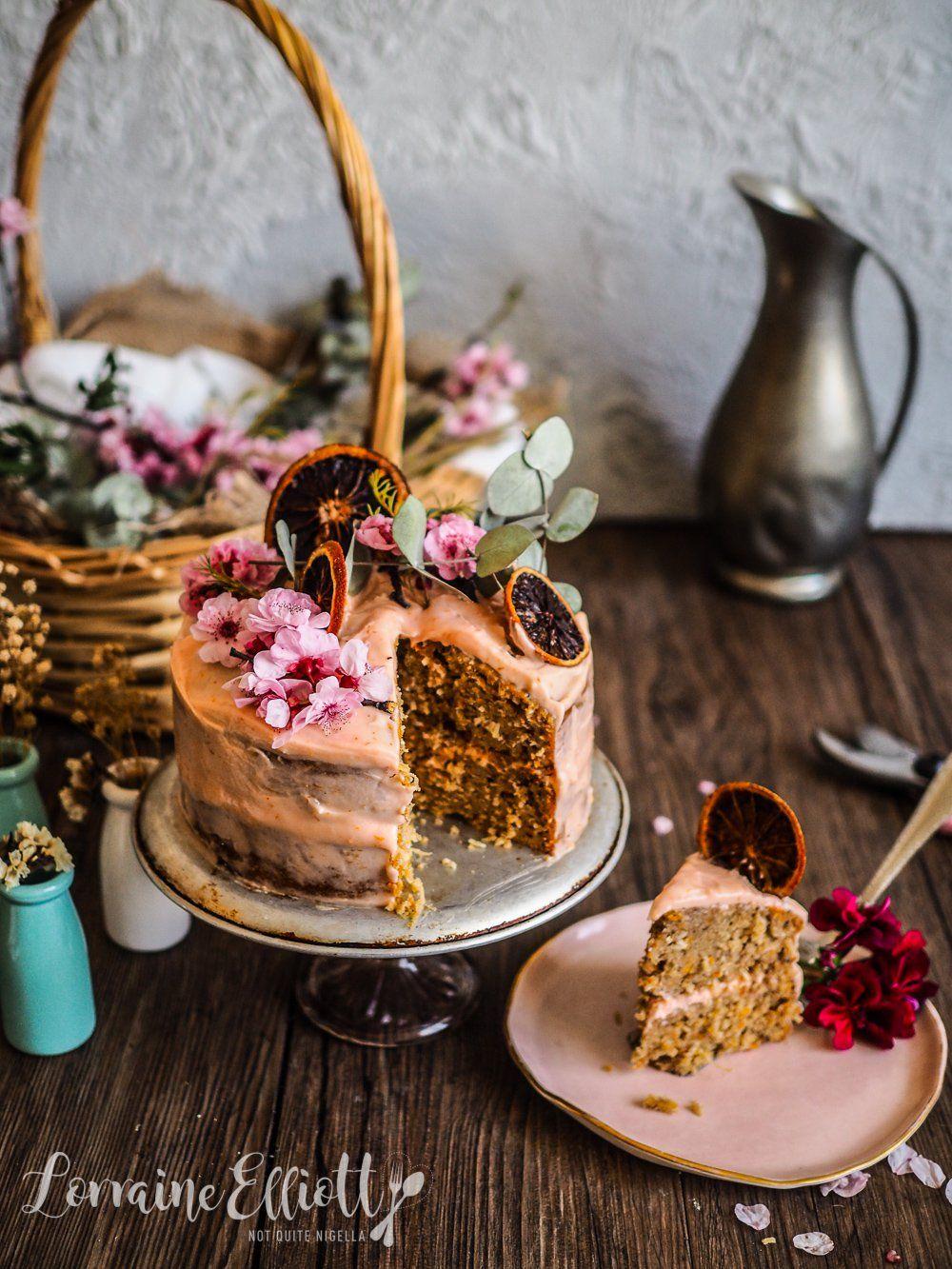 Melancholy Pink Blood Orange, Carrot & Coconut Cake -   16 rustic desserts Plating ideas