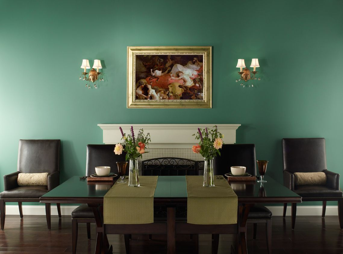 Dining Room Fancy Paint Color Ideas For Dining Room Dark Green For Formal And Elegant Dining R Green Dining Room Dining Room Paint Colors Dining Room Paint