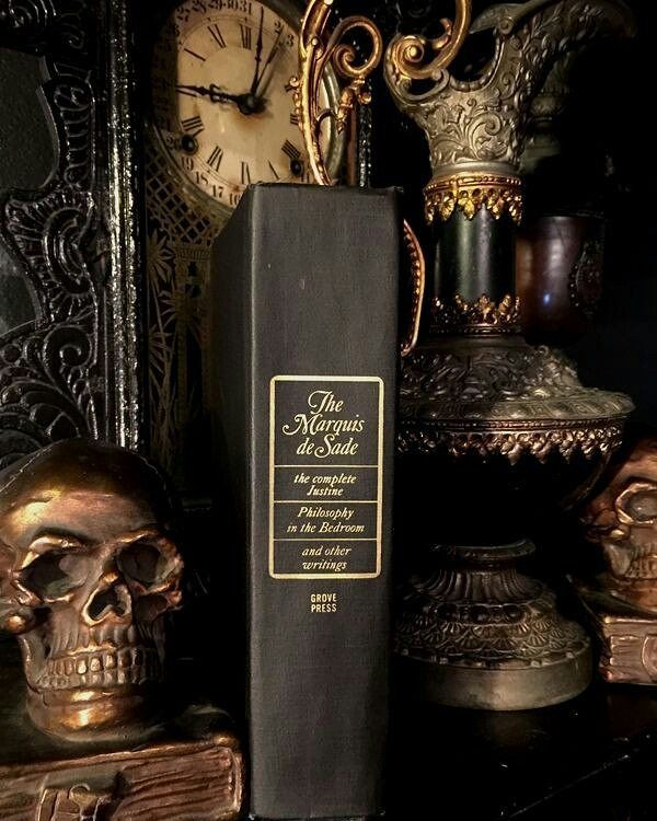 Stefano Morane On Instagram Marquis De Sade The One Book That Is Actually Holy For The Vast Majority Of The P Occult Decor Gothic Interior Gothic Home Decor