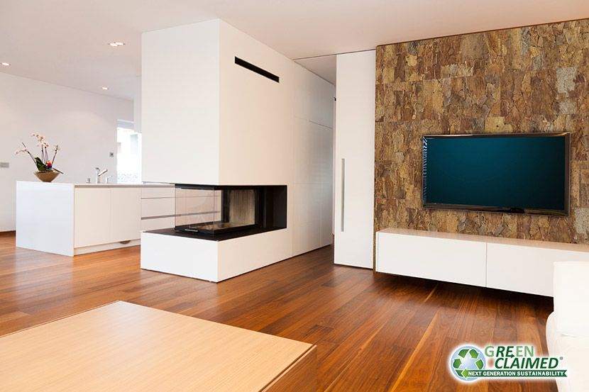 Cork tile sierra wall decor panel greenclaimed home for Cork flooring on walls