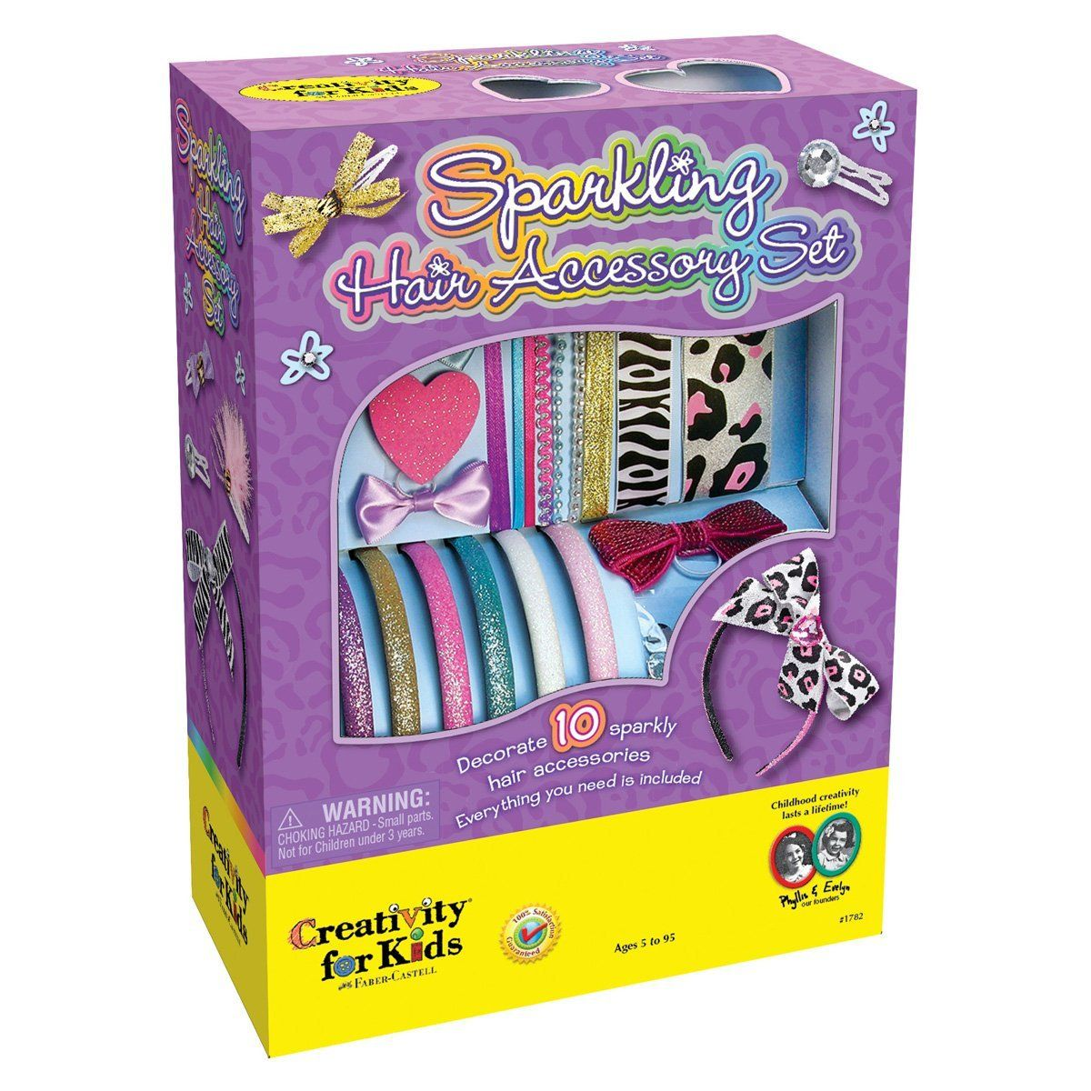 Creativity For Kids Sparkling Hair Accessory Set: Toys