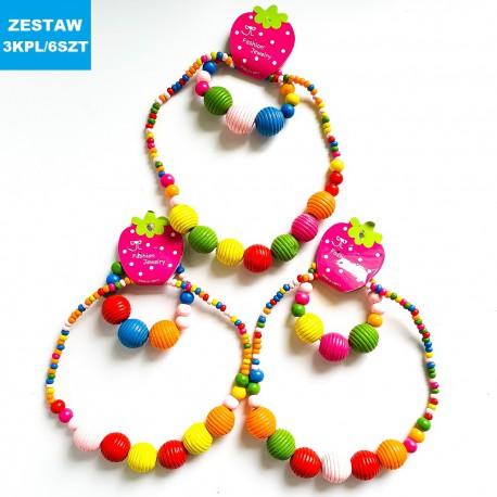 Bizuteria Wood 1 3 Kpl 6 Szt Crochet Necklace Jewelry Crochet