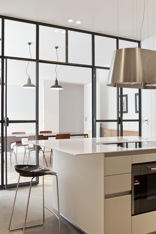 Interieur Contemporain Sur Paris Verriere Interieur Et Cloisons