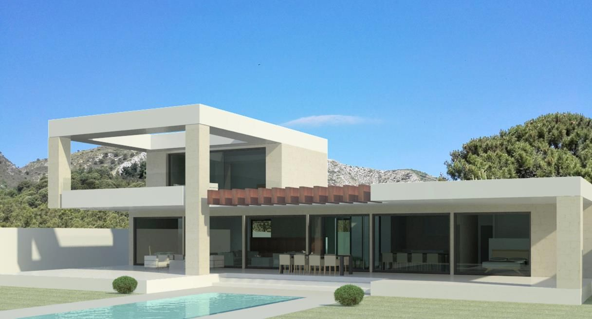 modern villa mostly on one floor except for one suite turnkey