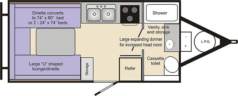 Chalet Xl 1938 Floor Plan Camping Travel Trailer Floor