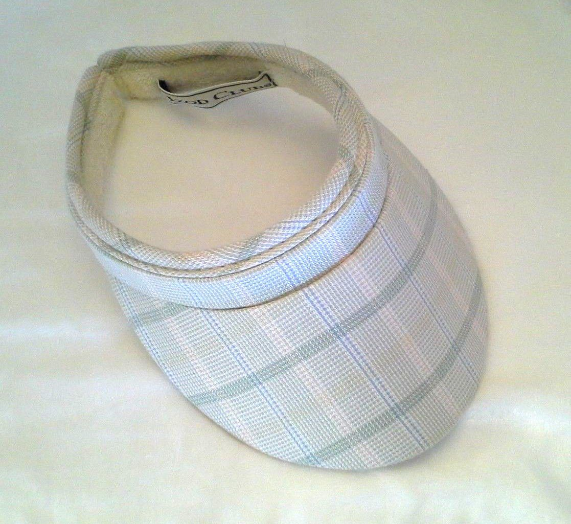 Women s Izod Club Visor Cap Hat Golf Tennis Stripe Beige Green Pink Blue  Beige cf0cd5a4c28