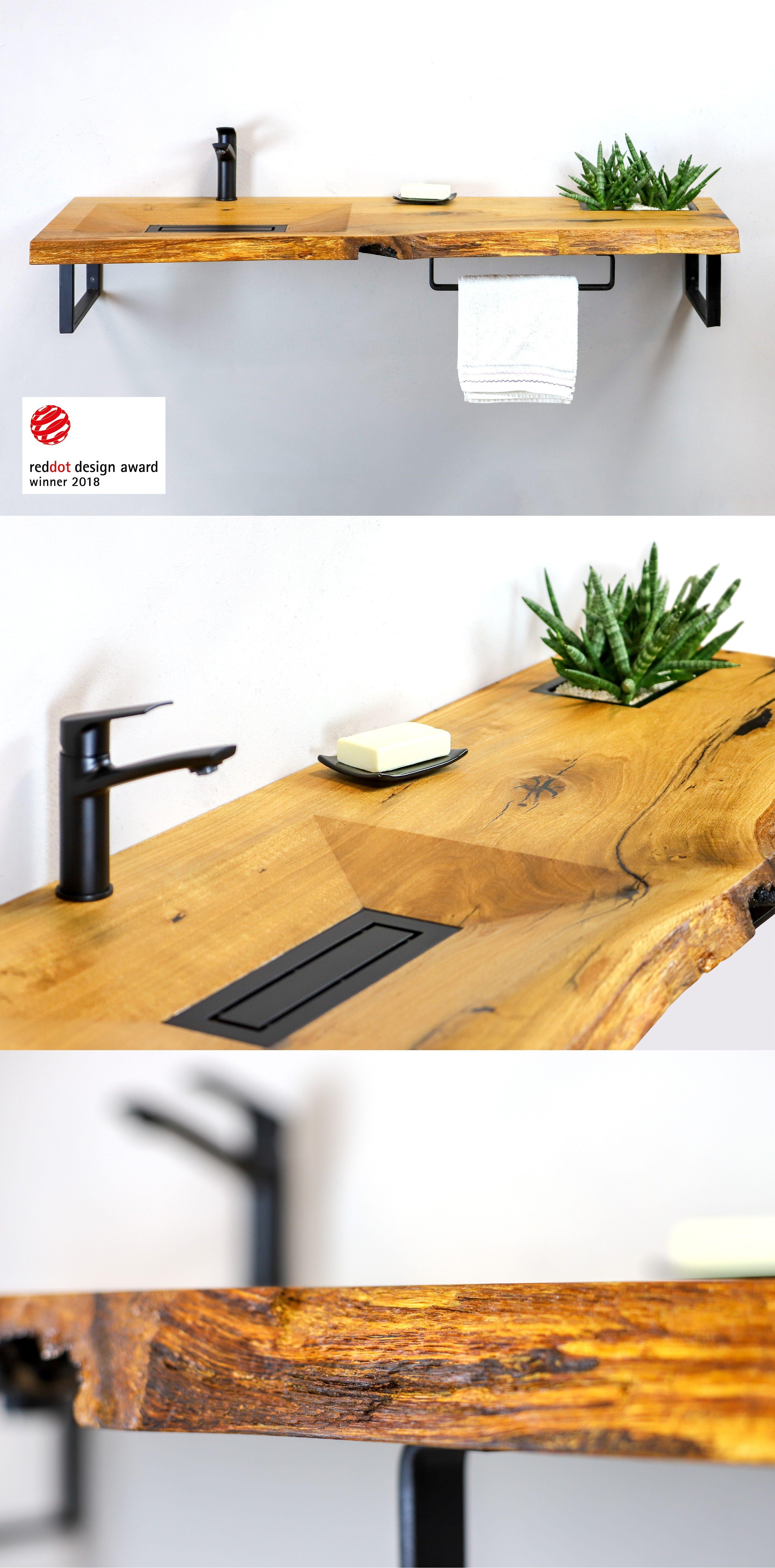Reddot Pramiertes Design Holzwaschbecken Wood Basin Cone Invi Holz